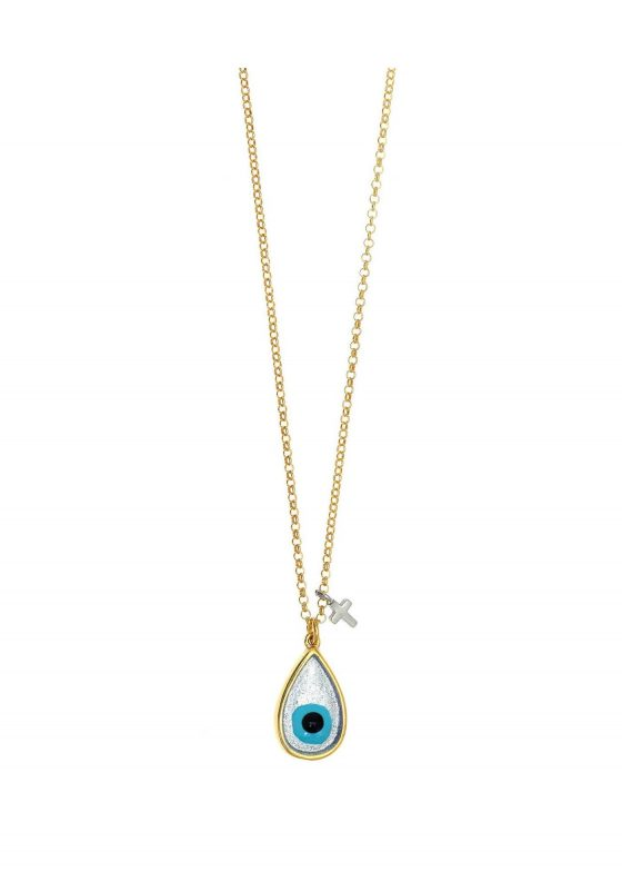Κολιέ-ασήμι-925-επιχρύσωμενο-με-μάτι-από-σμάλτο
