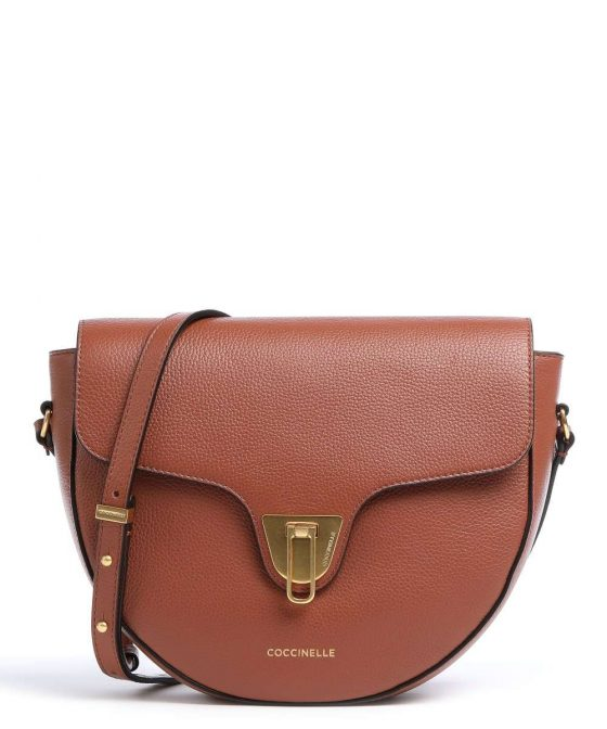 coccinelle beat soft crossbody bag red brown e1if6150101 r50 31