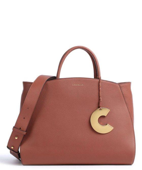 coccinelle concrete handbag red brown e1ila180201 r50 31