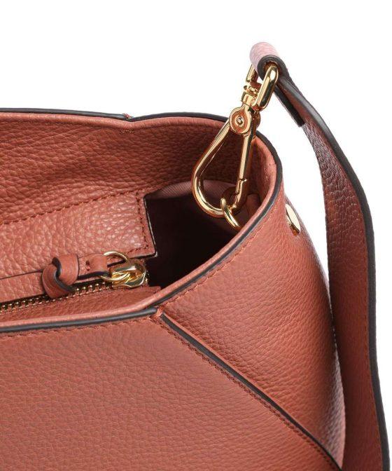 coccinelle concrete handbag red brown e1ila180201 r50 34