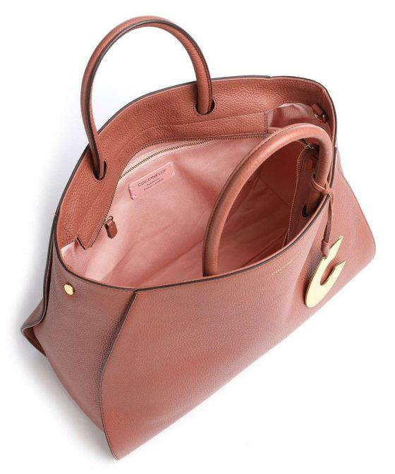 coccinelle concrete handbag red brown e1ila180201 r50 35