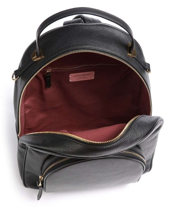 coccinelle lea backpack black e1i60140201 001 35