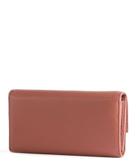 coccinelle metallic soft wallet red brown e2iw5114601 r50 33
