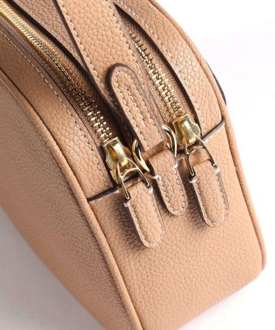 lauren ralph lauren carrie 24 crossbody bag light brown 431 837540 008 34