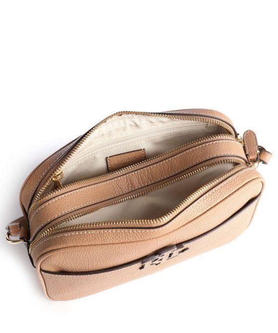 lauren ralph lauren carrie 24 crossbody bag light brown 431 837540 008 35