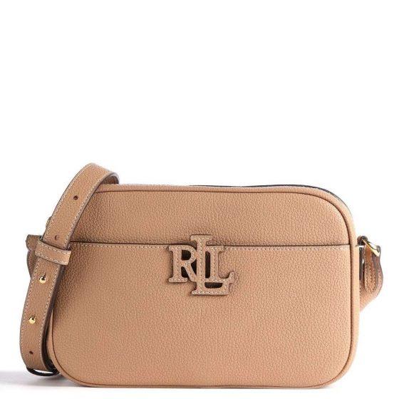 lauren ralph lauren carrie 24 crossbody bag light brown copy