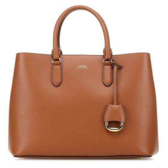 lauren ralph lauren dryden marcy handbag cognac 431 697680 026 31