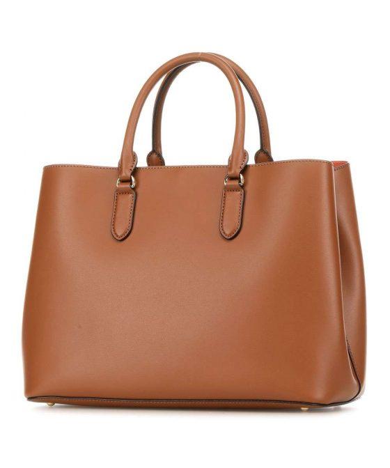 lauren ralph lauren dryden marcy handbag cognac 431 697680 026 32 1
