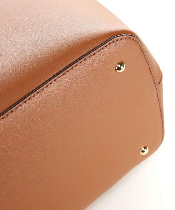lauren ralph lauren dryden marcy handbag cognac 431 697680 026 34 1