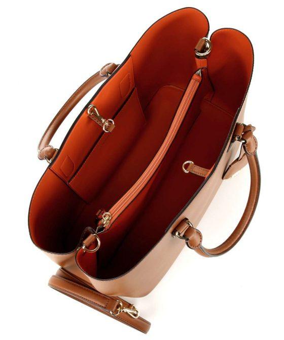 lauren ralph lauren dryden marcy handbag cognac 431 697680 026 35 1