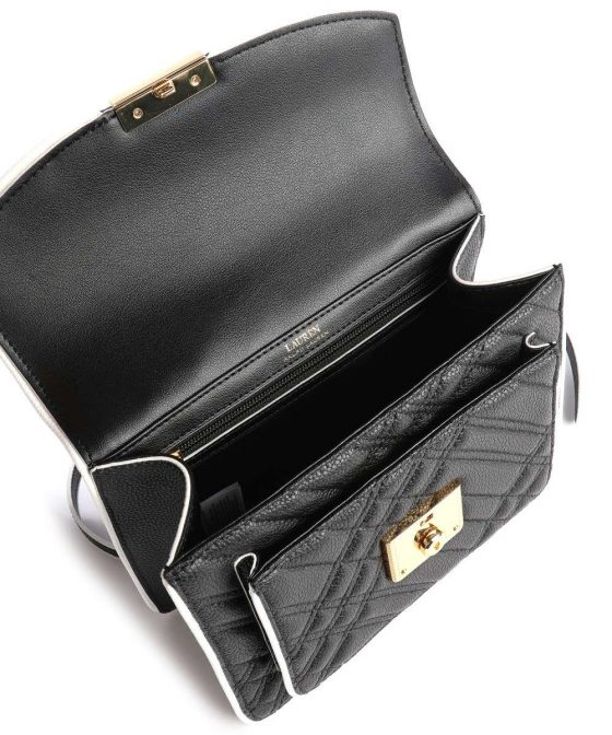 lauren ralph lauren heritage lock beckett 23 crossbody bag black 431 837601 002 36
